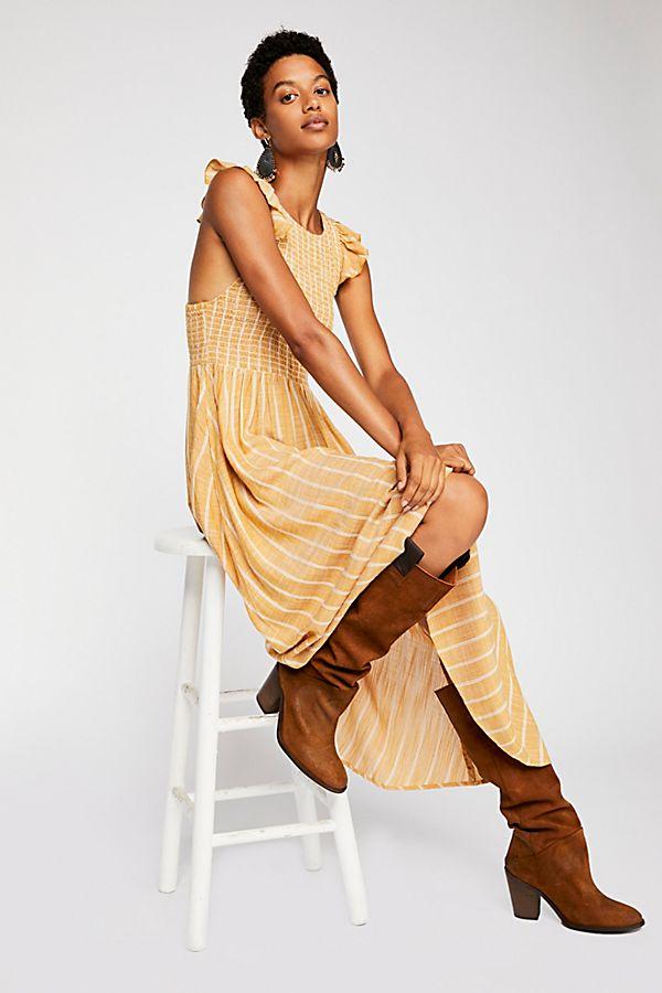 cute popular brand finest selection Chambray Butterflies Midi Dress | Free People