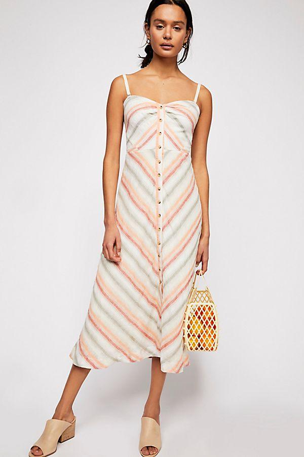 9817eeb6eb4b Striking Striped Midi Dress