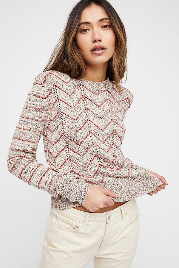 5564602c1424b Zig Zag Pullover Sweater