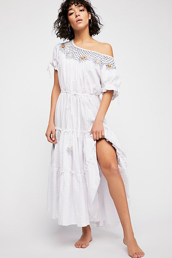 7866a7c0501 Daisy Smock Collar Maxi Dress