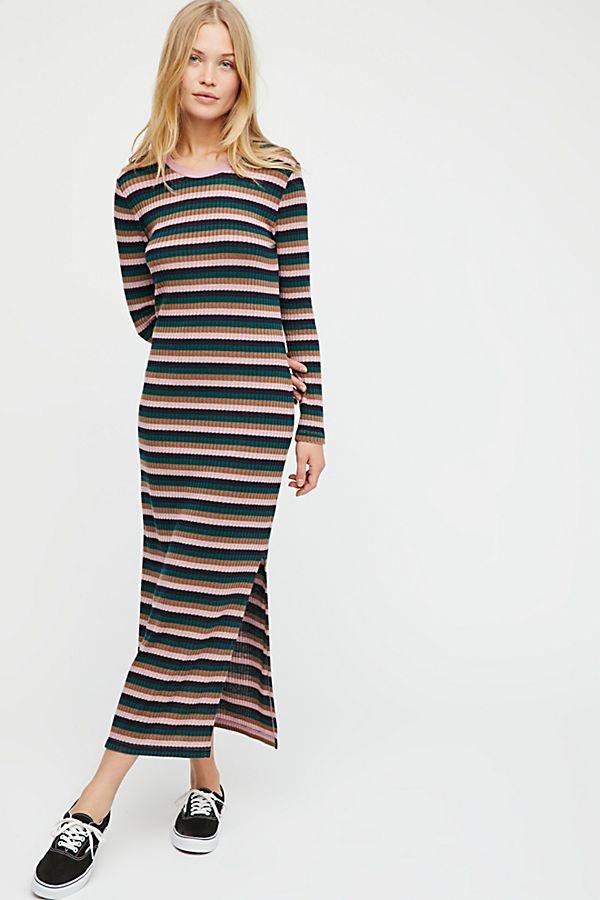 ff69cf24ea25 End Game Striped Midi Dress