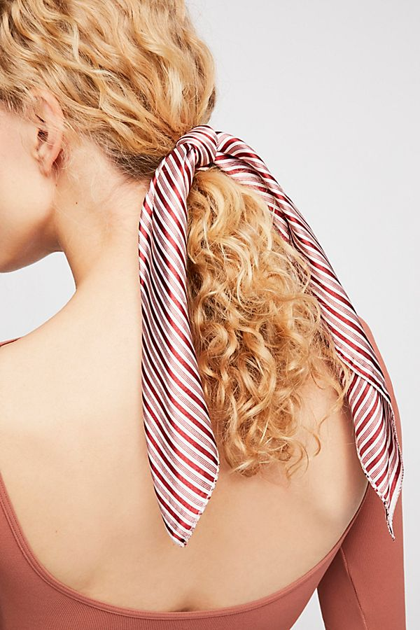Free people red and white scarf