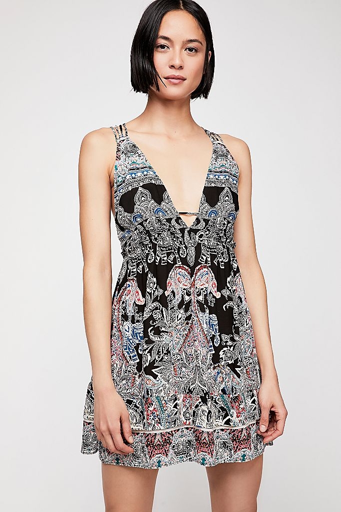 Free People Minis for You Printed Dress