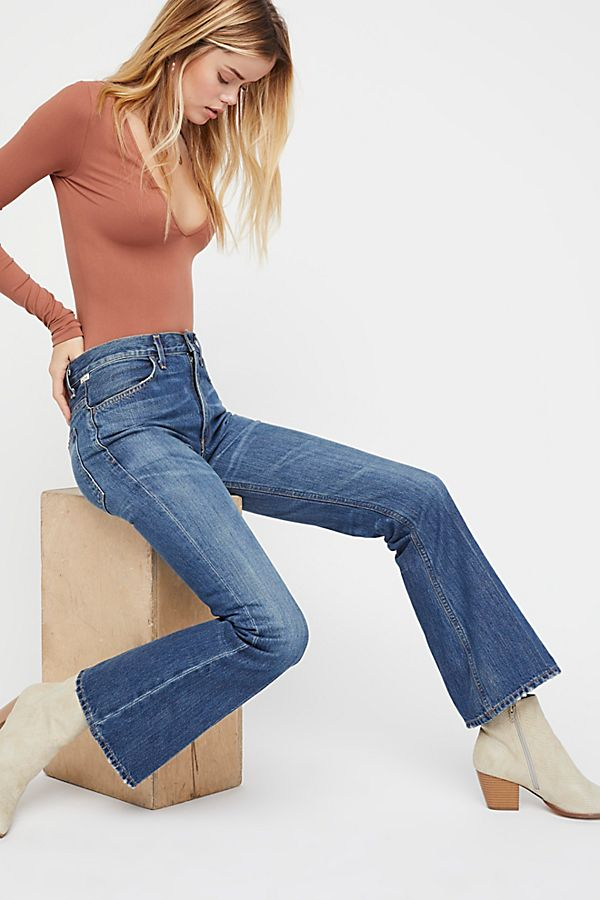 famous designer brand 2018 shoes exceptional range of colors Citizens of Humanity Kaya Mid-Rise Crop Flare Jeans