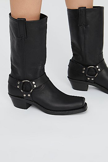 Leather Harness Mid Boot