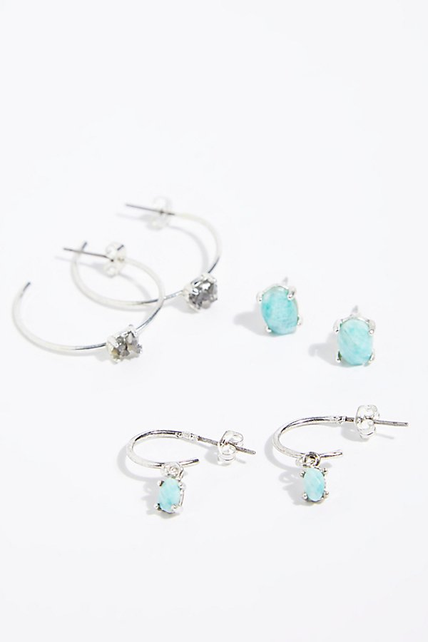 Slide View 3: Stardust Hoop Earring Set