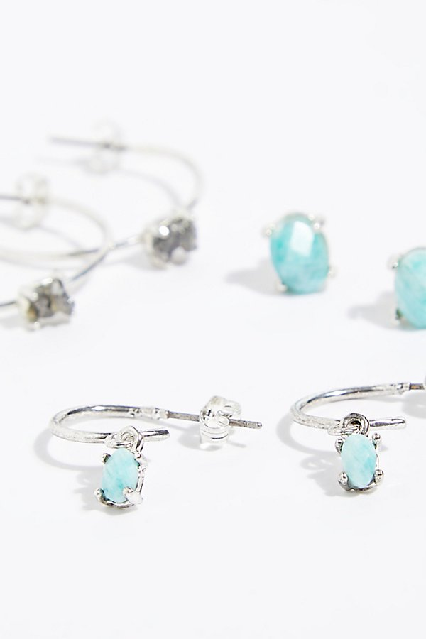 Slide View 4: Stardust Hoop Earring Set