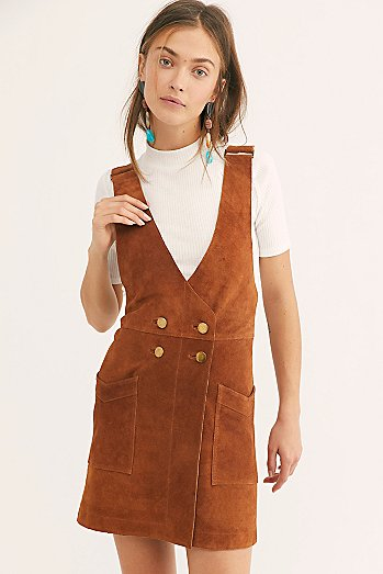 Canyonlands Suede Pinafore Dress