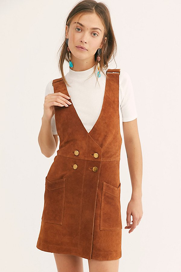 Slide View 1: Canyonlands Suede Pinafore Dress