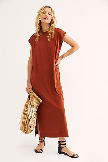6ac82bd5e8 All Day Long Midi T-Shirt Dress
