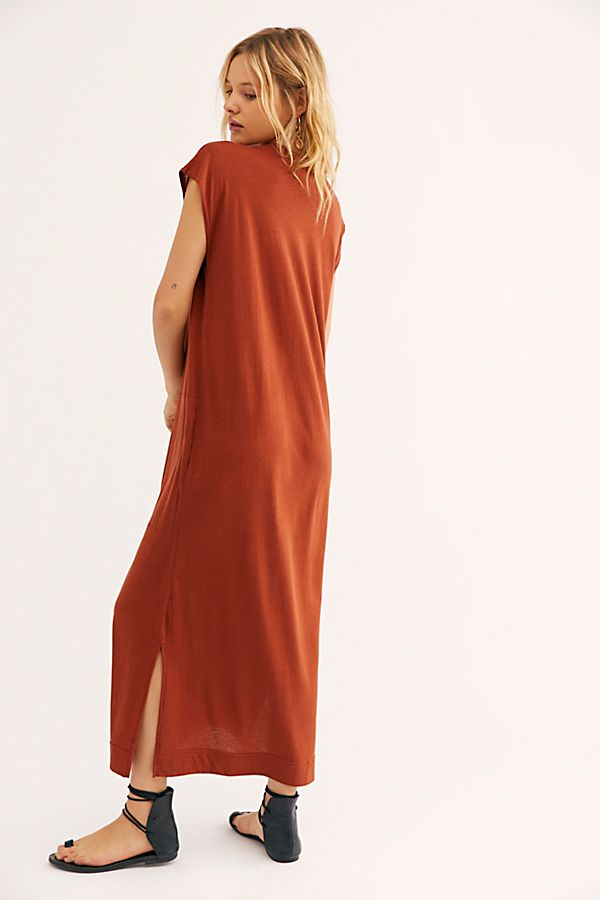 b64133e4d1dac0 Slide View 2: All Day Long Midi T-Shirt Dress