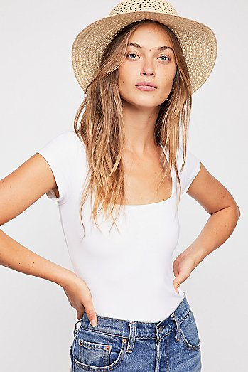Fair and Square Neck Bodysuit
