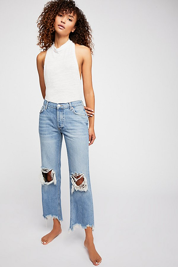 Slide View 1: Maggie Mid-Rise Straight-Leg Jeans