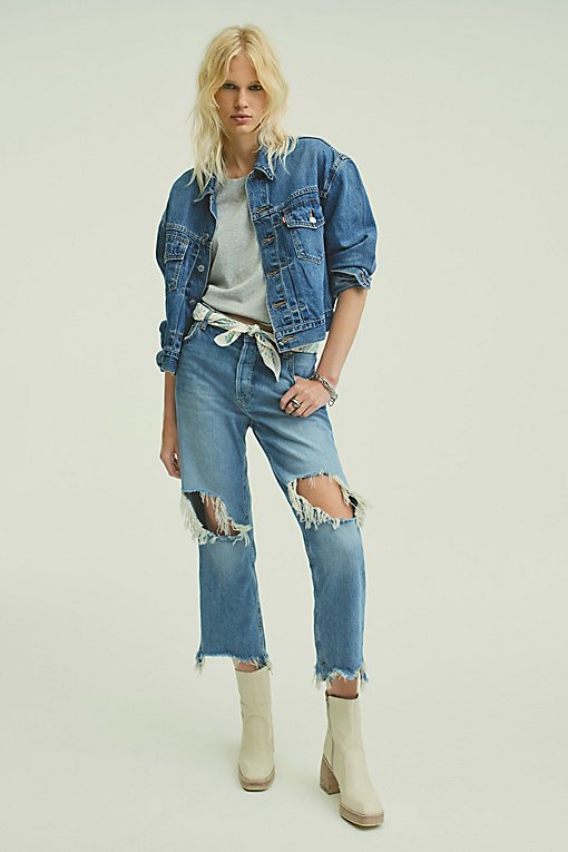 Maggie Mid Rise Straight Leg Jeans