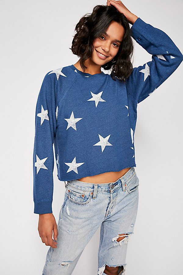 Slide View 1: Oversized Star Cutoff Raglan