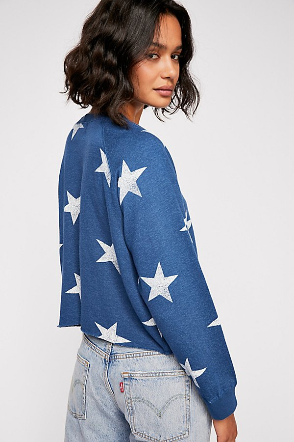 Slide View 2: Oversized Star Cutoff Raglan