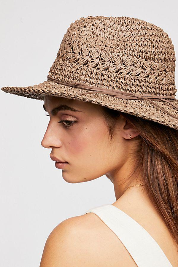 00a3e6f48 Summerland Crochet Straw Sun Hat