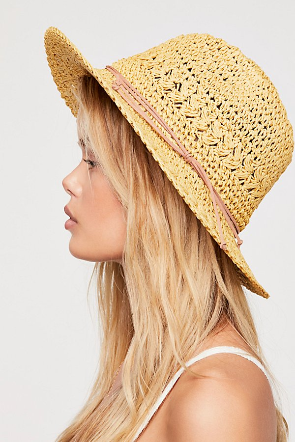 Slide View 4: Summerland Crochet Straw Sun Hat
