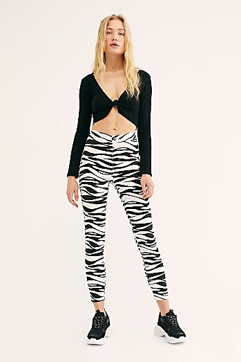 Belle Printed Skinny Trousers