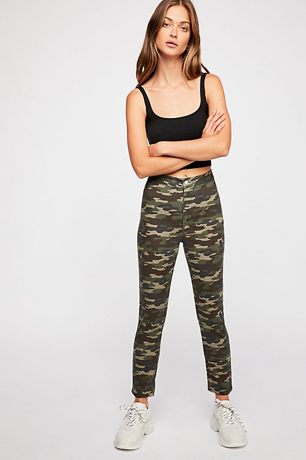 Slide View 1: Belle Printed Skinny Pants