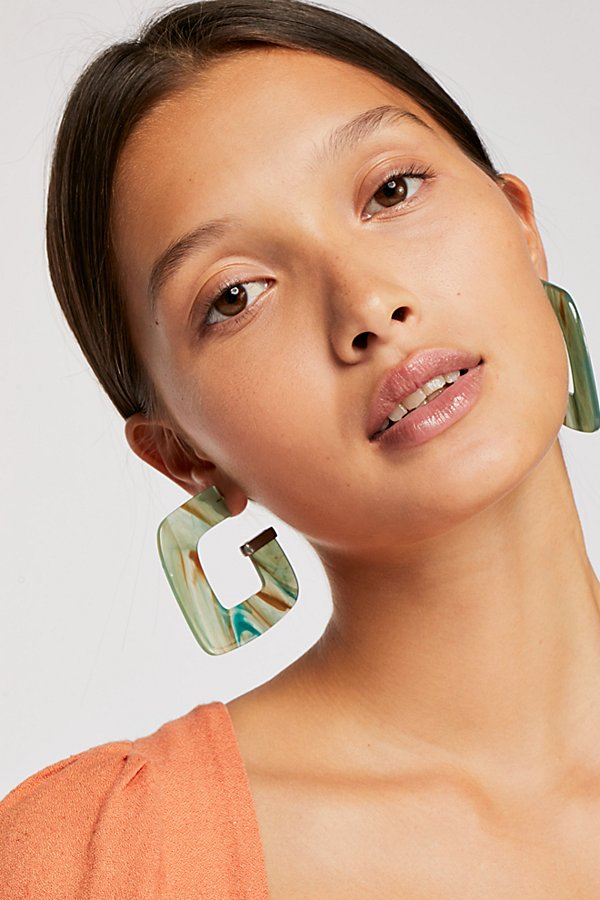 Slide View 1: Faraway Resin Hoop Earrings