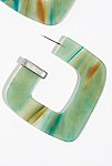 Thumbnail View 3: Faraway Resin Hoop Earrings