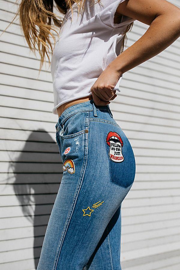 3e5aa3ff Wrangler Retro Badge Flare Jeans   Free People