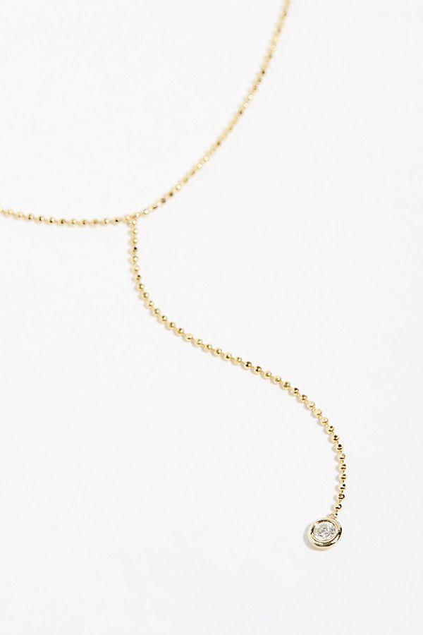 cb60ef167c927d Slide View 1: 14k Floating Diamond Lariat Necklace