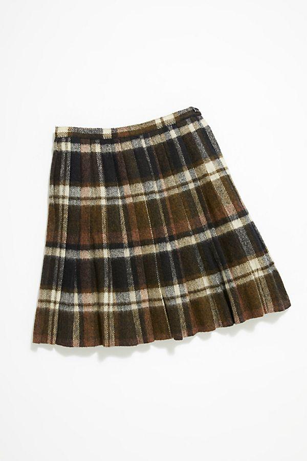 b2dc7b4cdd910 Vintage Plaid Wool Skirt