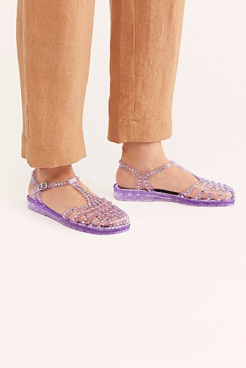 Time Travel Jelly Sandal