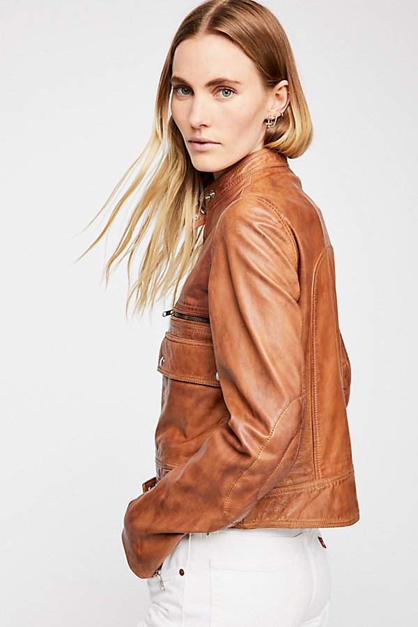 Slide View 3: Love Aviator Leather Jacket