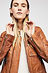 Thumbnail View 4: Love Aviator Leather Jacket
