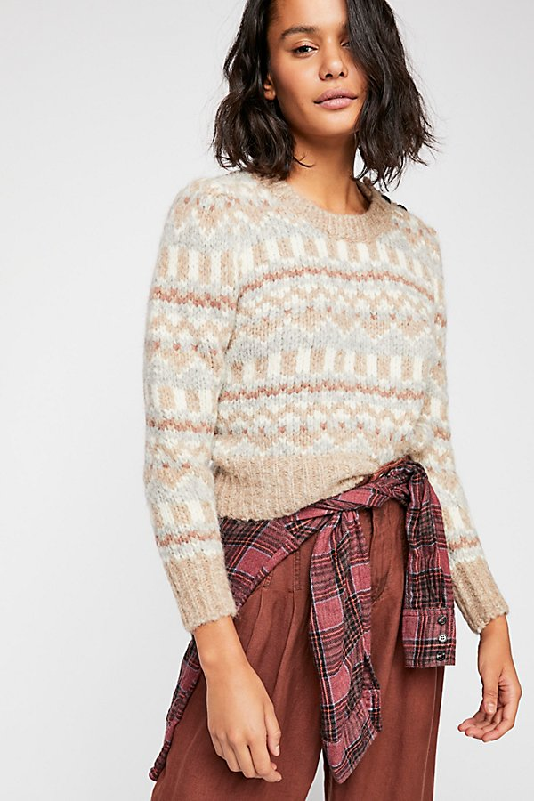 Slide View 1: Cropped Pullover Sweater