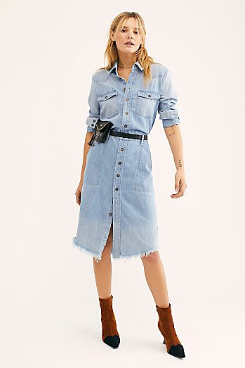 Long Classic Denim Shirt