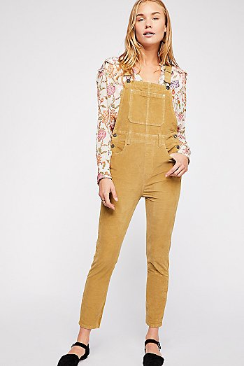 Slim Ankle Cord Overalls