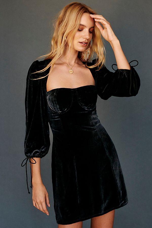 7341d3b2762 Nadine Velvet Bustier Mini Dress