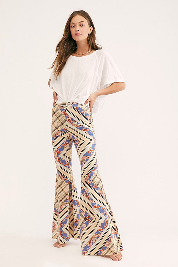 Slide View 2: Just Float On Printed Flare Jeans