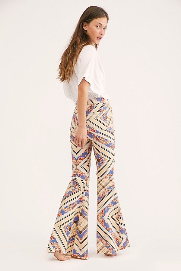 Slide View 3: Just Float On Printed Flare Jeans