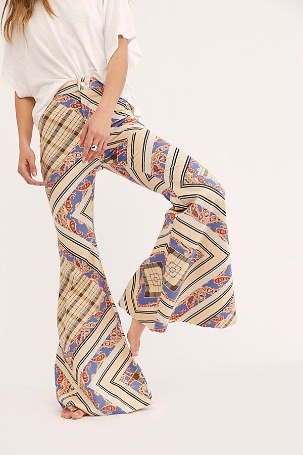 Slide View 4: Just Float On Printed Flare Jeans