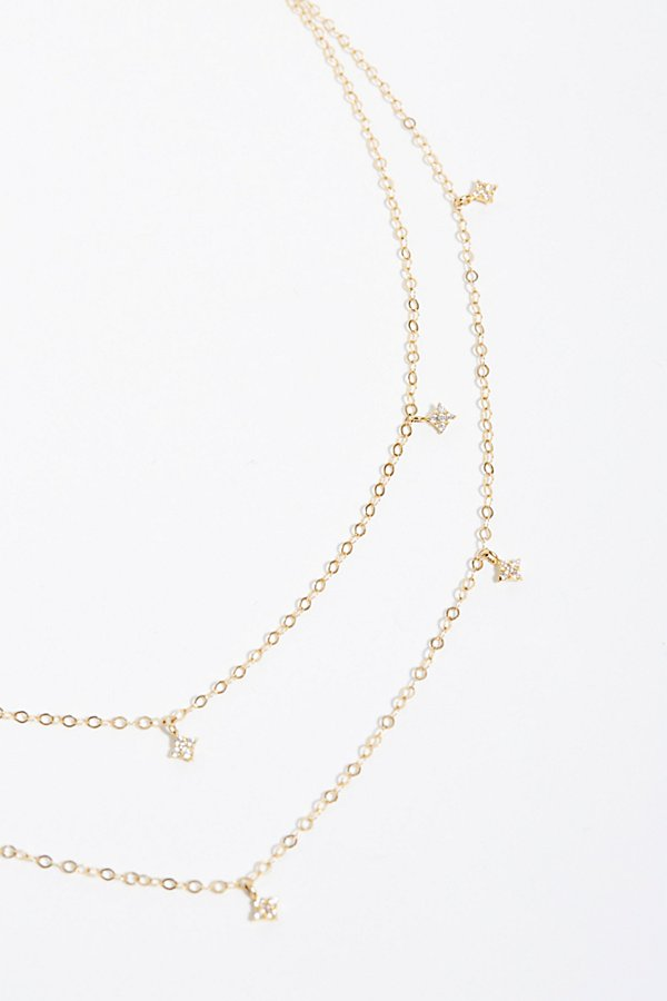 Slide View 4: Double Shimmering Star Necklace