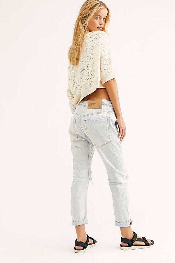 b9ebf4395a7 Slide View 2: OneTeaspoon Shabbies Drawstring Boyfriend Jeans
