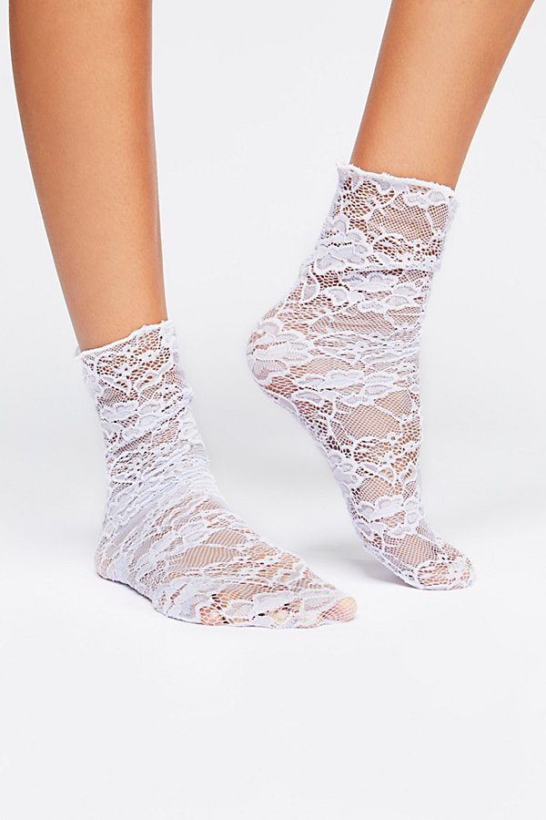 Slide View 2: Bella Lace Crew Sock