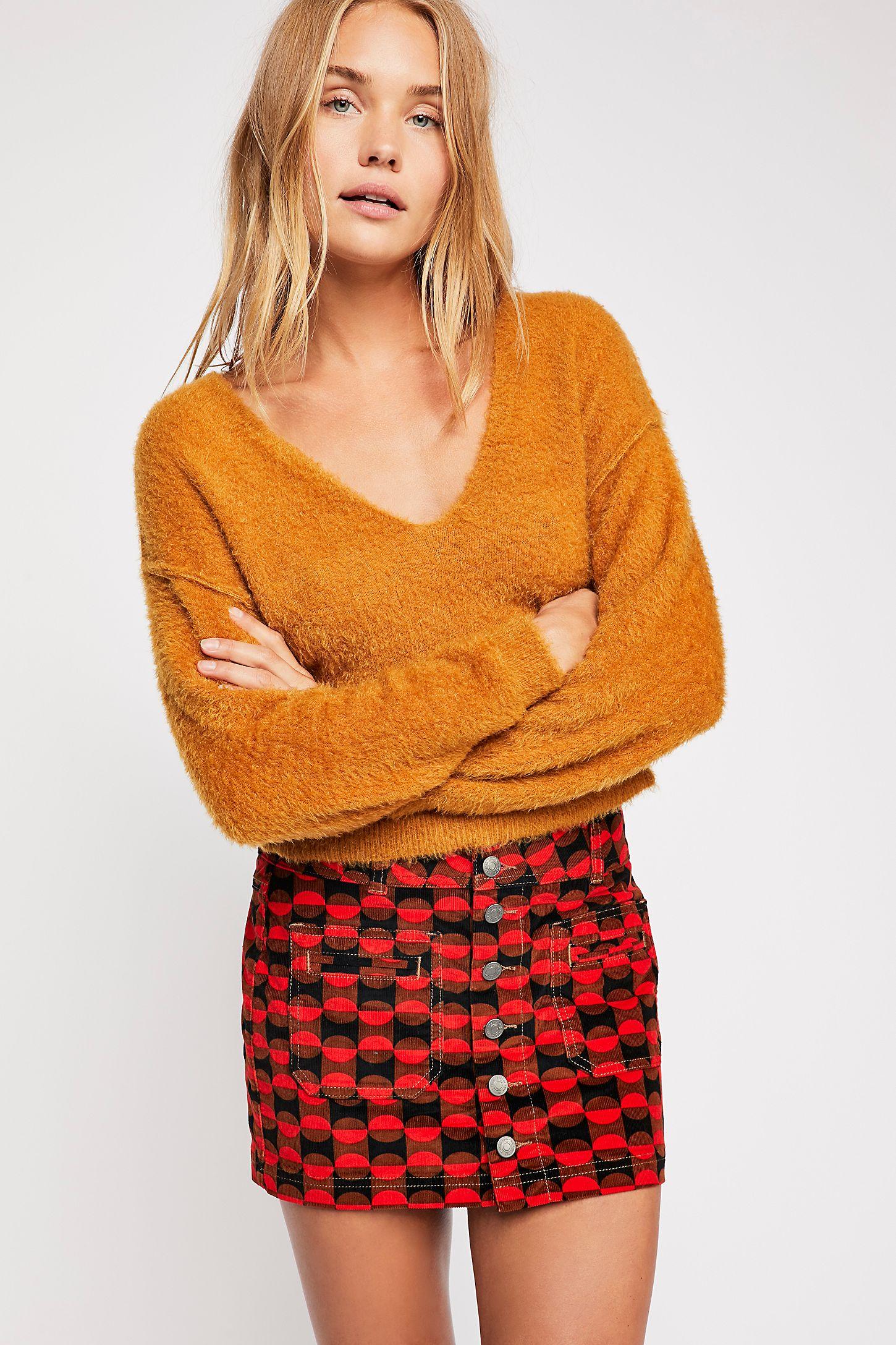 7a7656f33d Joanie Printed Cord Skirt | Free People UK