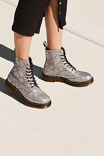 Dr. Martens Pascal Silver Lace-Up Boot
