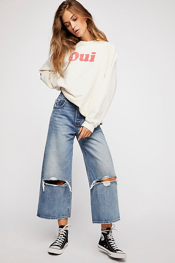 Slide View 4: Levi's High Water Wide-Leg Jeans