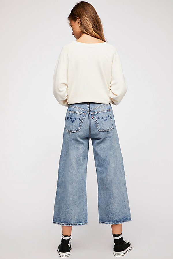 Slide View 5: Levi's High Water Wide-Leg Jeans