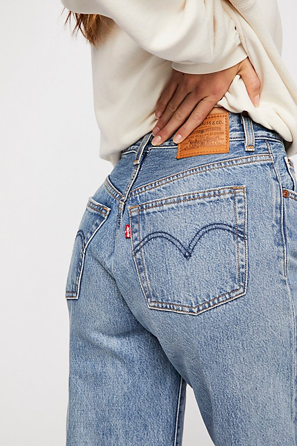 Slide View 6: Levi's High Water Wide-Leg Jeans