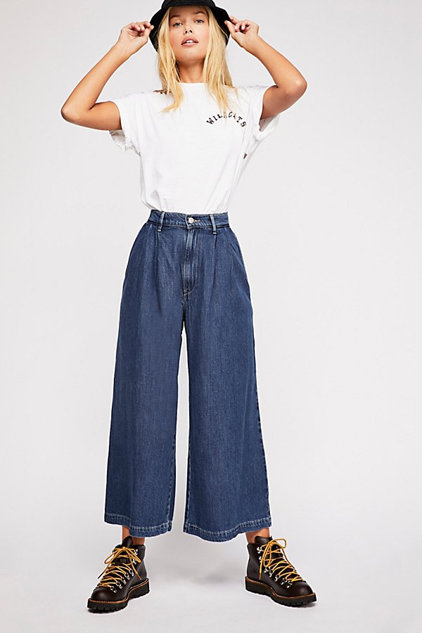 Slide View 1: Levi's Wide-Leg Pleated Jeans