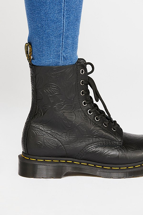 Slide View 3: Dr. Martens 1460 Pascal Floral Embossed Boot