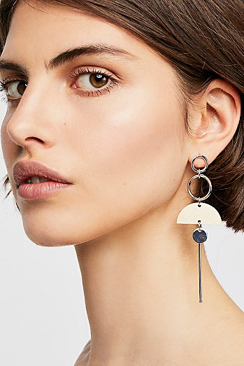 Balancing Wood Single Earring